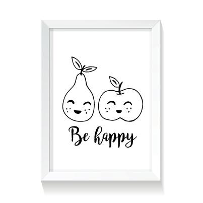 """Plakat/Obrazek dla dzieci """"Owoce"""" 20x30cm do pokoju dziecięcego"""