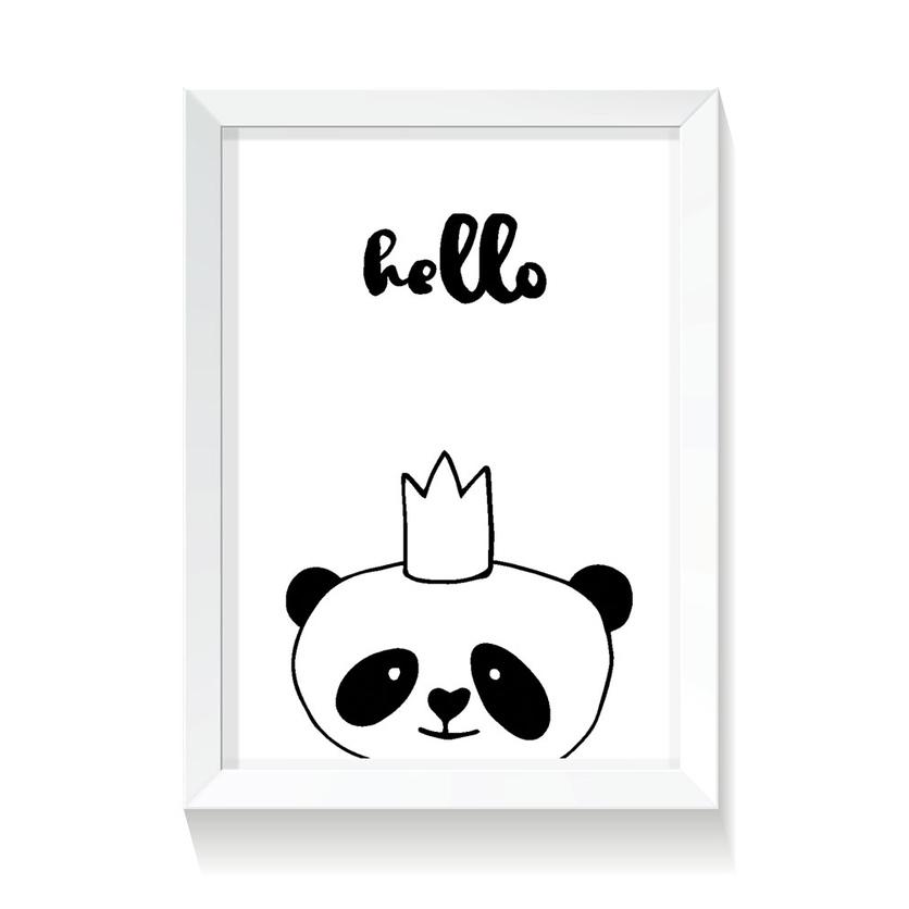 """Plakat/Obrazek dla dzieci """"Panda"""" 20x30cm do pokoju dziecięcego"""