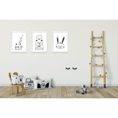 """Plakat/Obrazek dla dzieci """"Kotek"""" 20x30cm do pokoju dziecięcego"""