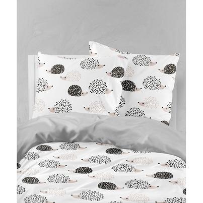 Bawełniana Pościel dziecięca do łóżeczka w Jeżyki 140x200 dla dziewczynki