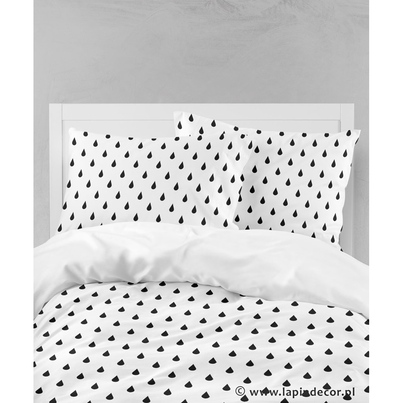 Bawełniana Pościel dziecięca do łóżeczka Krople 100x135 dla chłopca