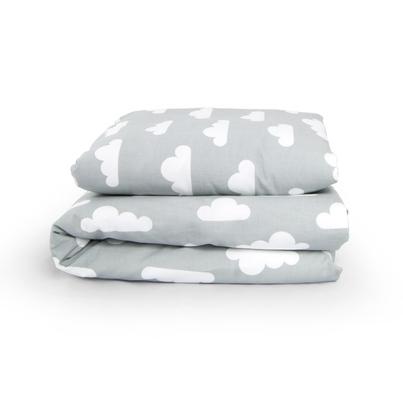 Bawełniana Pościel dziecięca do łóżeczka Białe Chmurki 140x200