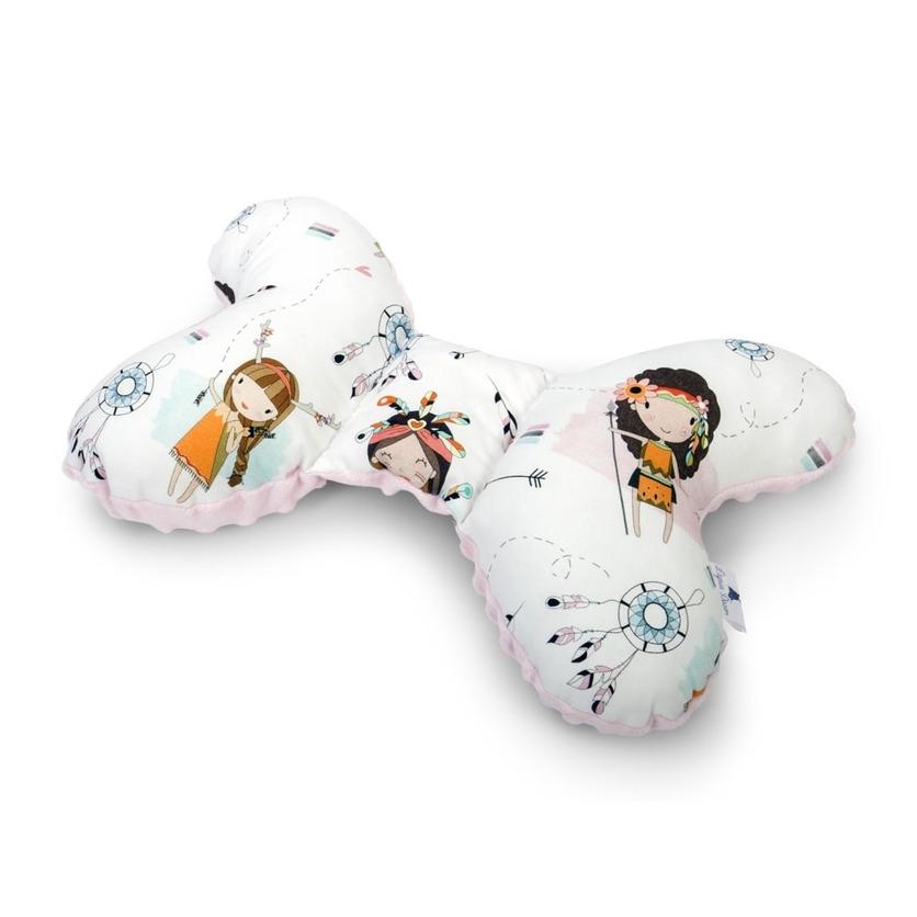 Poduszka Motylek Indianki/Minky dla noworodka do wózka i fotelika