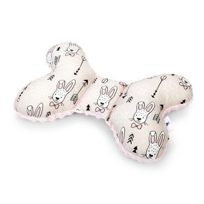 Poduszka Motylek Króliki/Minky dla noworodka do wózka i fotelika