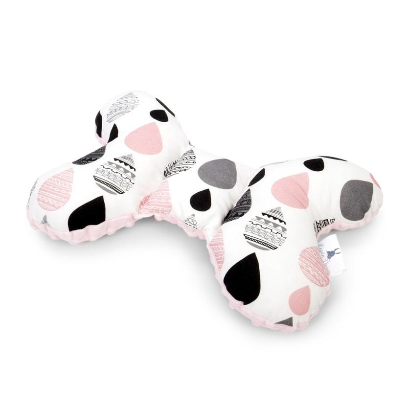 Poduszka Motylek Krople I/Minky dla noworodka do wózka i fotelika