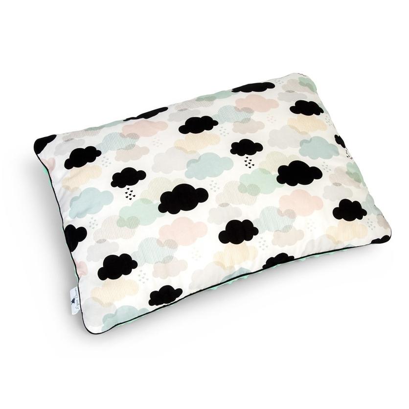 Pastelowa Duża poduszka dziecięca Pastelowe Chmurki 40x60 Minky do łóżeczka