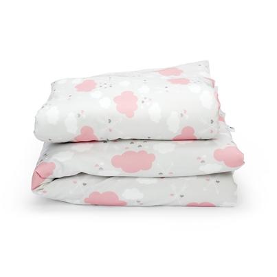 Bawełniana Pościel dziecięca do łóżeczka Pink Clouds 90x120 dla dziewczynki