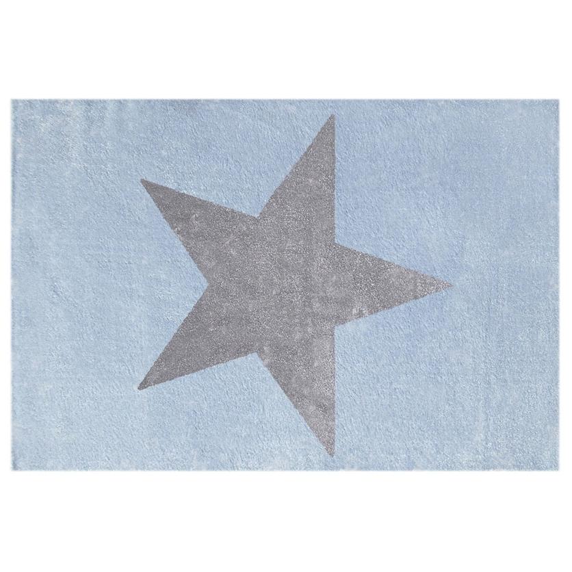 Dywan dziecięcy 80x150cm - Star Gray/Niebieski do pokoju dziecięcego