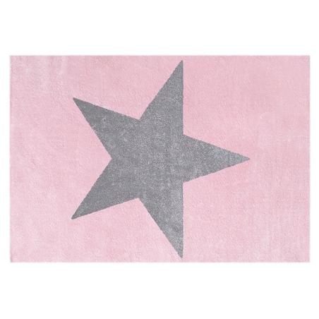 Dywan dziecięcy - STAR Gray/Pink