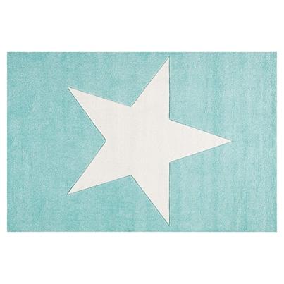 Dywan dziecięcy 80x150cm - Star Cream/Miętowy do pokoju dziecięcego