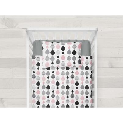Bawełniana Pościel dziecięca do łóżeczka Krople I 100x135 dla dziewczynki