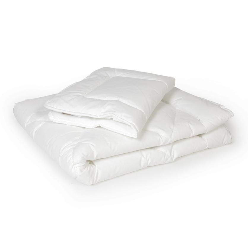 Bawełniana Kołdra i poduszka dziecięca 120x90 - COTTON do łóżeczka