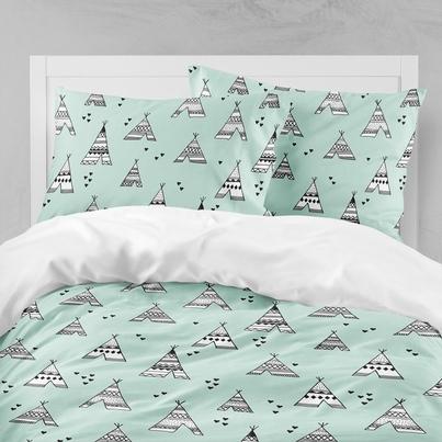 Bawełniana Pościel dziecięca do łóżeczka Tipi 100x135 dla dziewczynki