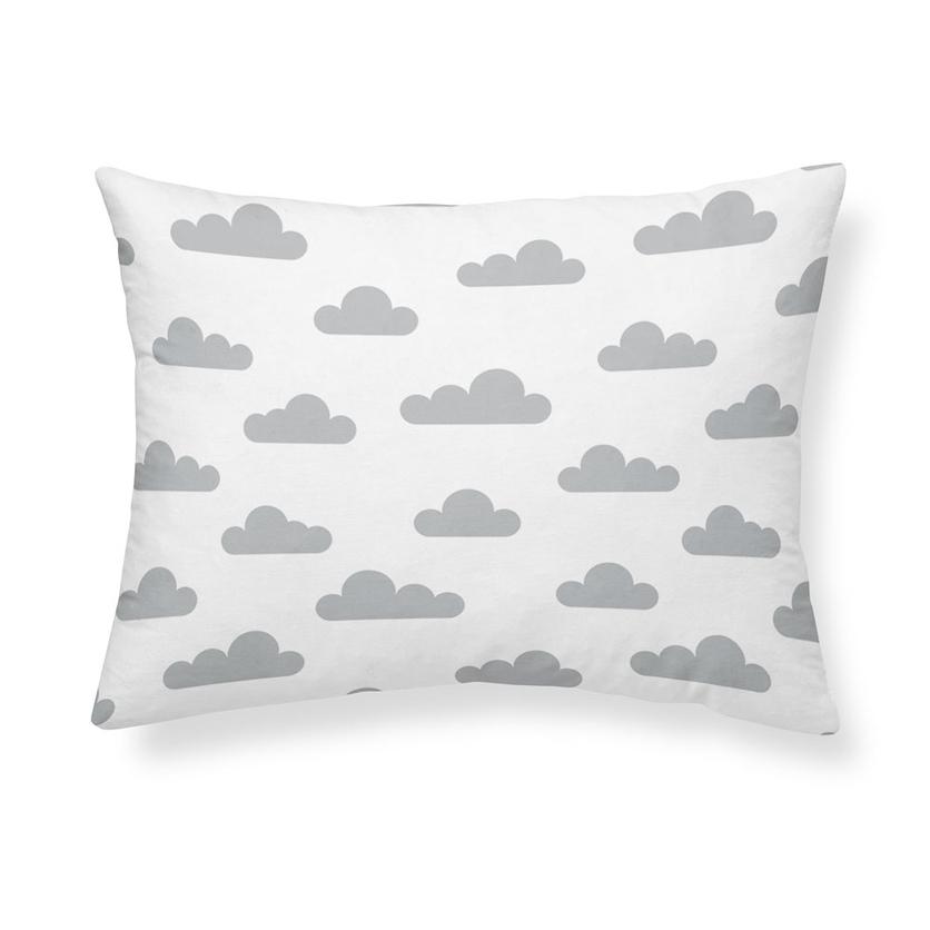 Bawełniana Poszewka dla dziecka 40x60 - Szara Chmurka na poduszkę