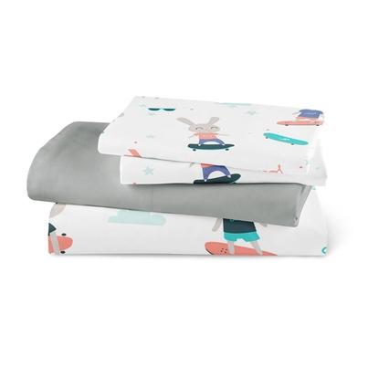 Bawełniana Pościel dziecięca do łóżeczka Skaters 90x120 dla dziewczynki
