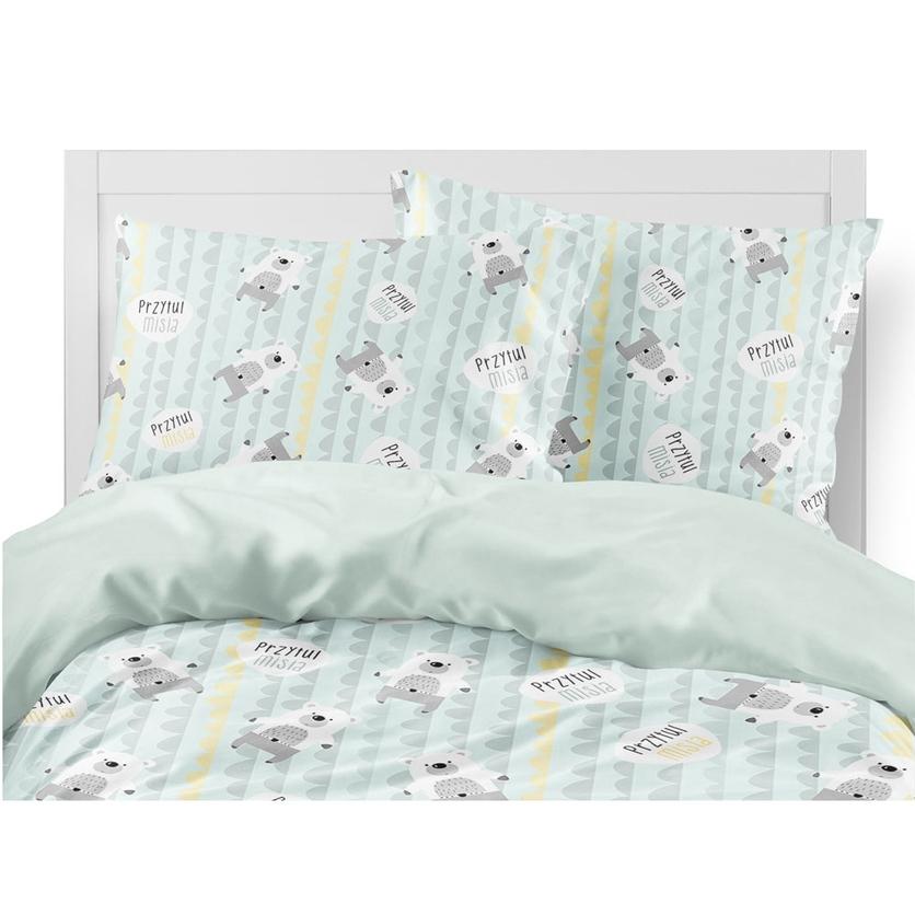 Bawełniana Pościel dziecięca do łóżeczka Przytul Misia 140x200