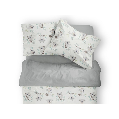 Bawełniana Pościel dziecięca do łóżeczka Koala 140x200 dla dziewczynki