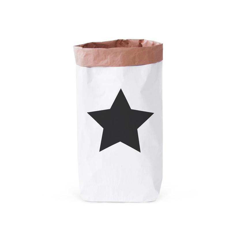 Papierowy worek na zabawki Star 80x50cm dla dzieci