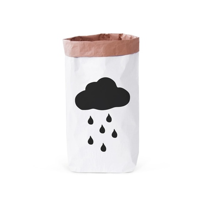 Papierowy worek na zabawki Deszczowa Chmurka
