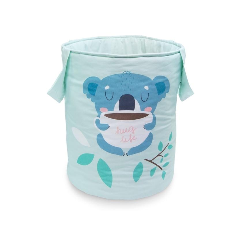 Materiałowy kosz na zabawki z uszami - Koala dla dzieci