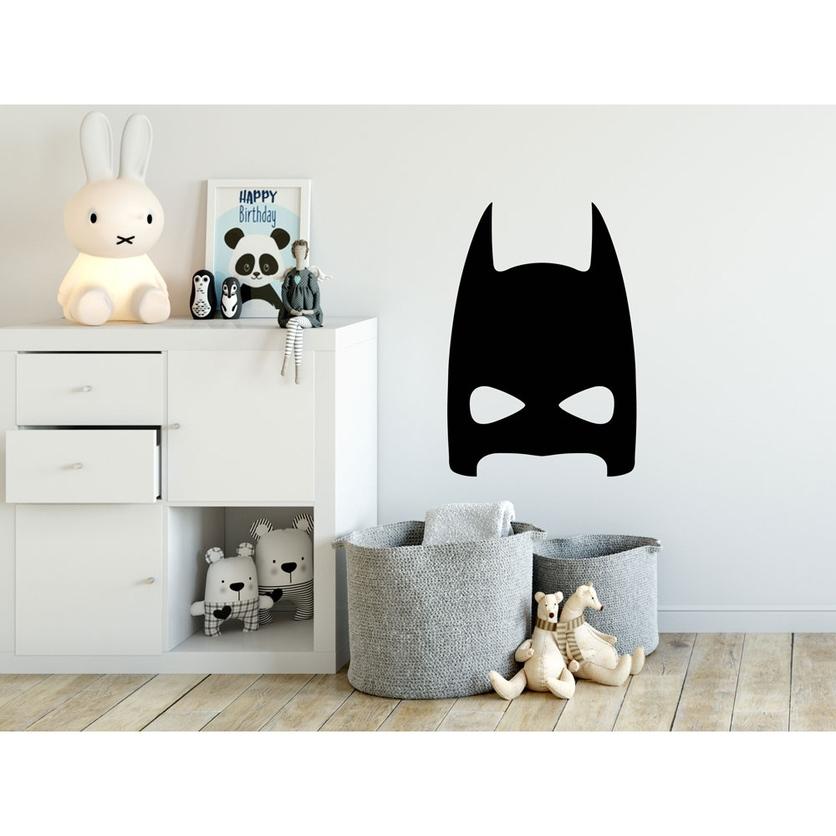 Naklejka na ścianę dla chłopca czarny Batman do pokoju dziecięcego