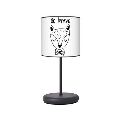 Lampka nocna dla dziecka czarno-biała Lisek Spryciulisek do pokoju dziecięcego