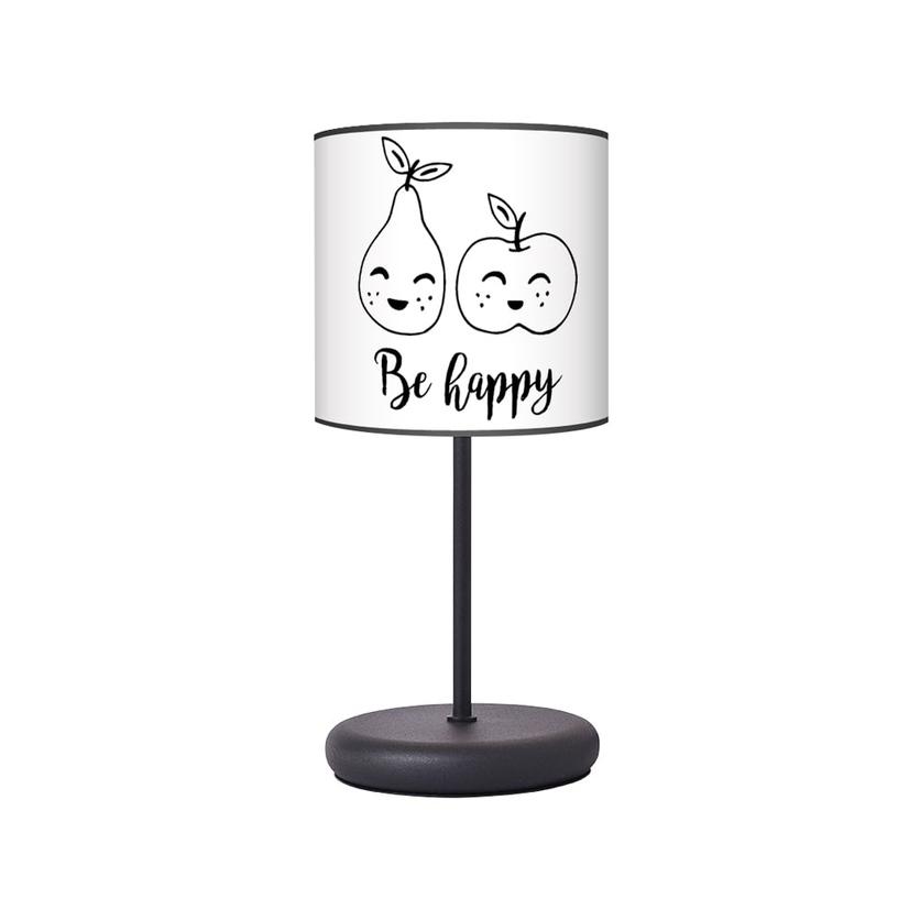 Lampka nocna dla dziecka czarno-biała Owoce do pokoju dziecięcego