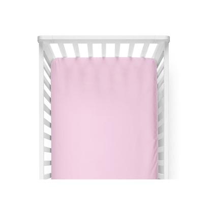 Różowe prześcieradło dla dziecka z gumką 60x120 do łóżeczka