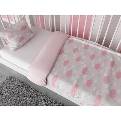 Pościel dziecięca Pink Clouds do łóżka, łóżeczka