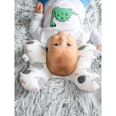 Poduszka Motylek Jeżyki/Minky dla noworodka do wózka i fotelika