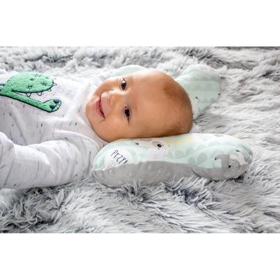 Poduszka Motylek Przytul Misia/Minky dla noworodka do wózka i fotelika