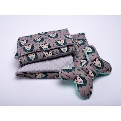 Dziecięcy Zestaw minky kocyk i poduszki - Lwy 75x100 dla chłopca