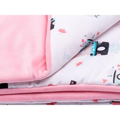 Bawełniany Kocyk Velvet dla niemowlaka - Rabbit Gril 75x100 do wózka, fotelika i łóżeczka.