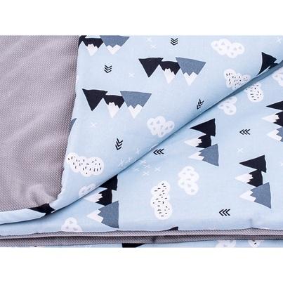 Bawełniany Kocyk Velvet dla niemowlaka - Mountain 75x100 do wózka, fotelika i łóżeczka.