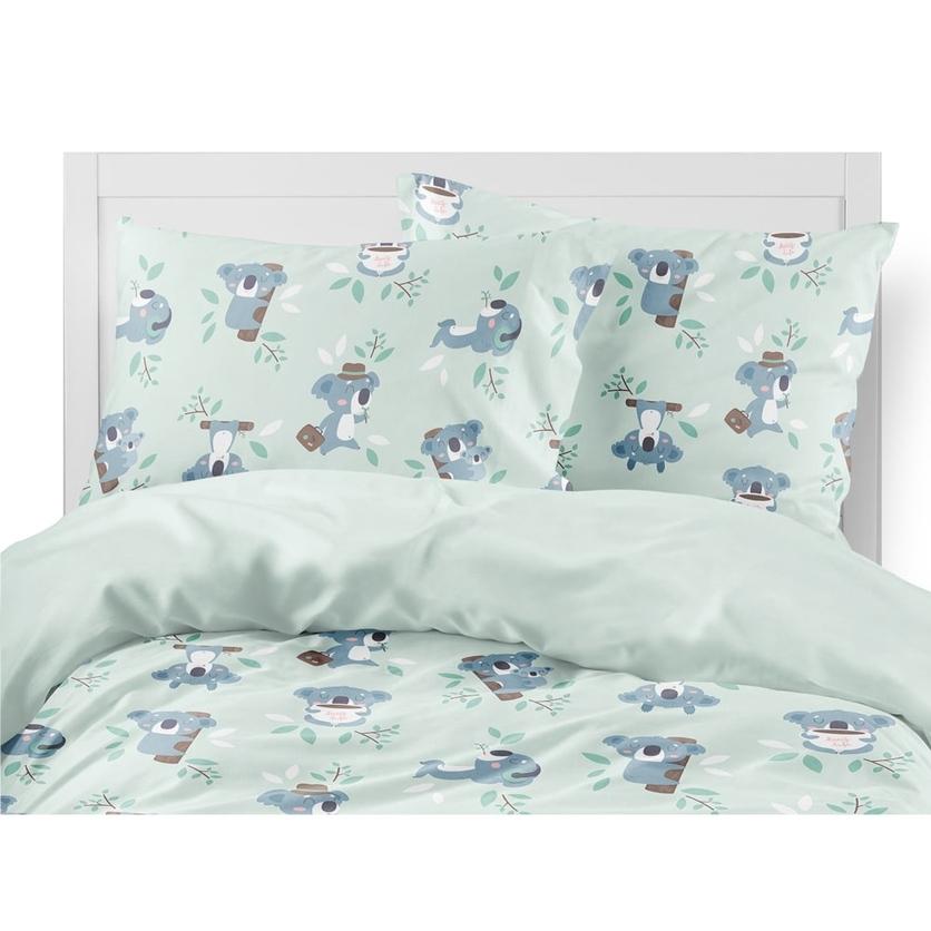 Bawełniana Pościel dziecięca do łóżeczka Koala II 140x200 dla dziewczynki