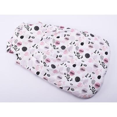 Bawełniany Śpiworek dziecięcy/niemowlęcy - Różowy Las dla dziewczynki do wózka, spacerówki i fotelika.