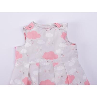 Bawełniany Śpiworek dziecięcy/niemowlęcy - Pink Clouds dla dziewczynki do wózka, spacerówki i fotelika.