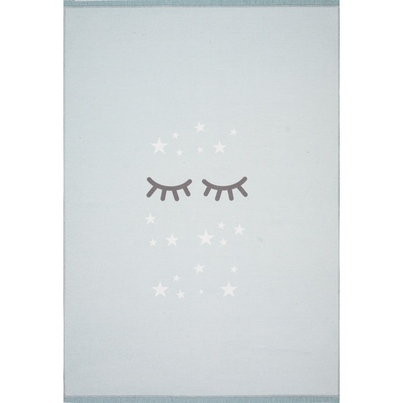 Dywan dziecięcy - Śpiące oczka - Miętowy