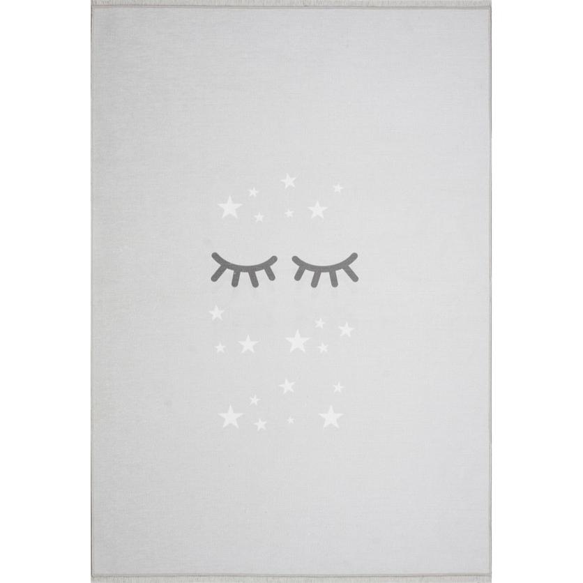 Dywan dziecięcy - Śpiące oczka - Jasny szary
