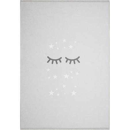 Dywan dziecięcy 140x190 - Śpiące oczka - Jasny szary