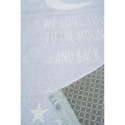 Dywan dziecięcy - Księżyc - Błękitny do pokoju dziecięcego