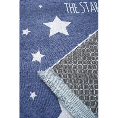Dywan dziecięcy 100x160cm - Gwiazdki na niebie - Granatowy do pokoju dziecięcego