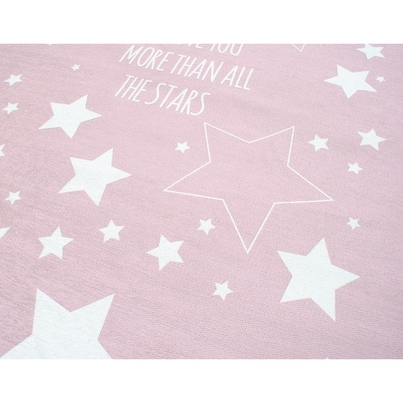 Dywan dziecięcy - Gwiazdy na niebie - Różowy