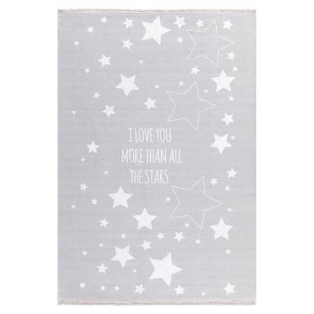 Dywan dziecięcy - Gwiazdy na niebie - Szary