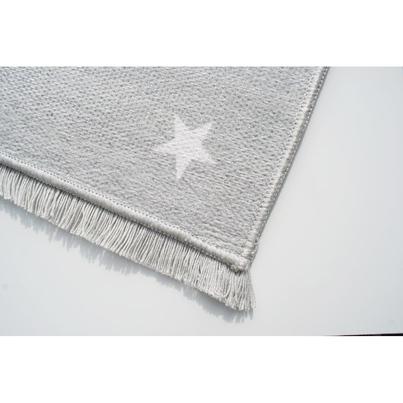 Dywan dziecięcy 100x160cm - Gwiazdki na niebie - Szary do pokoju dziecięcego