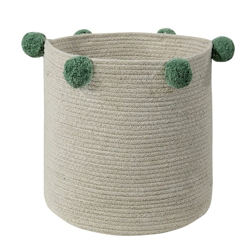 Kosz na zabawki - Basket Bubbly Green