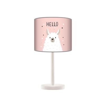 Lampka nocna dla dziewczynki różowa Lama do pokoju dziecięcego
