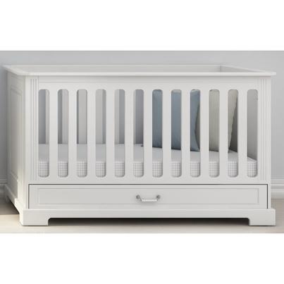 Łóżeczko Ines białe 70x140 z szufladą Bellamy