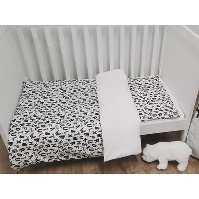 Bawełniana Pościel dziecięca do łóżeczka Alfabet 100x135