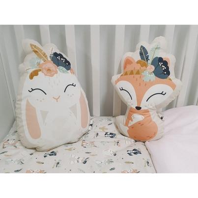 Przytulanka, Maskotka dla dziecka różowa Lisica do spania